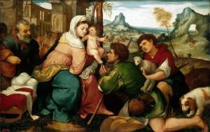 Бонифацио Веронезе - Поклонение пастухов
